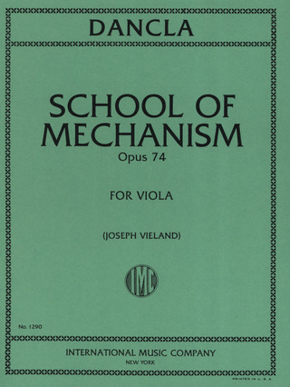 Charles Dancla: School of Mechanism op. 74