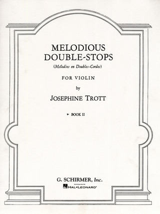 Trott Josephine: Trott Melodious Double-Stops Book 2 Solo Violin (Ed1694)