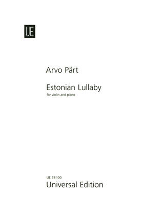 Arvo Pärt: Estonian Lullaby