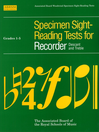 Specimen Sight Reading Tests For Recorder