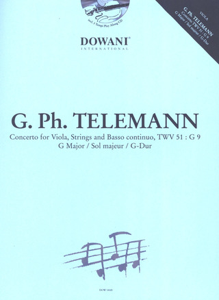 Georg Philipp Telemann: Concerto for Viola, Strings and BC TWV 51:G 9 in G Major