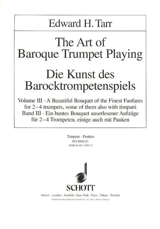 Edward H. Tarr: The Art of Baroque Trumpet Playing Vol.3