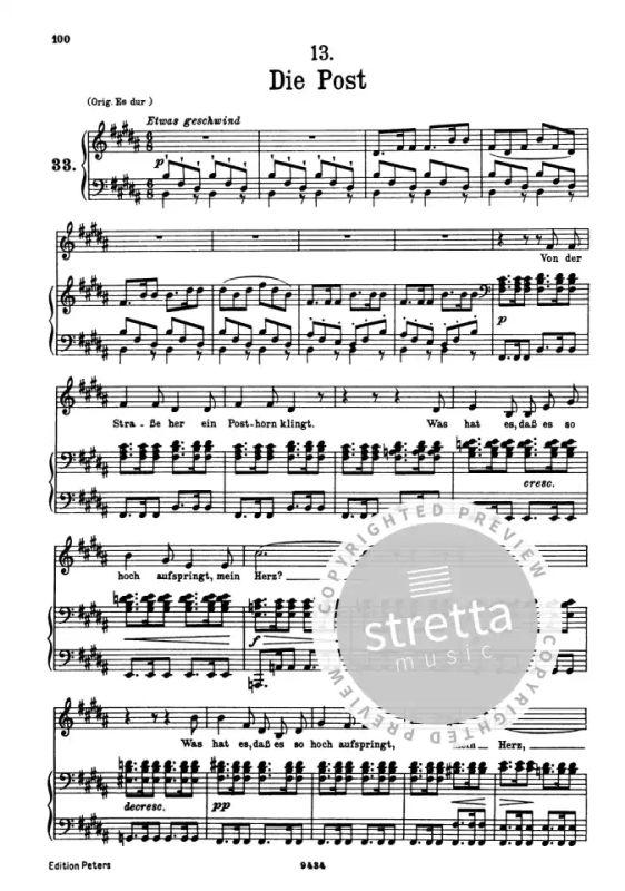dt tief Lieder Band 1 : für Gesang und Klavier von Schubert