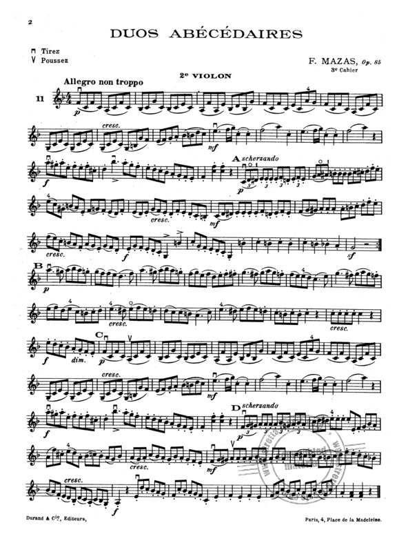 Duos Abecedaires Op 85 3 From Jacques Fereol Mazas Buy Now In Stretta Sheet Music Shop