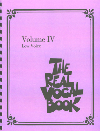 The Real Vocal Book 4 – Low Voice