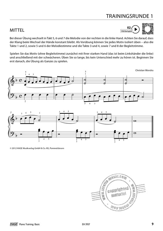 Christian Wondra: Piano Training Basic (4)