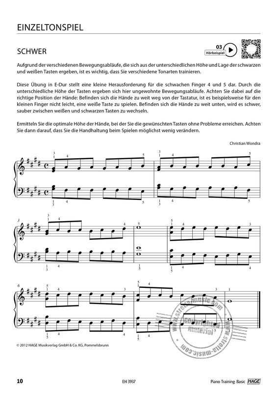 Christian Wondra: Piano Training Basic (5)