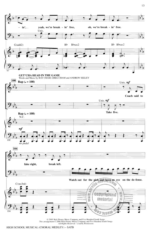 High School Musical - Choral Medley (Satb) Book | buy now in