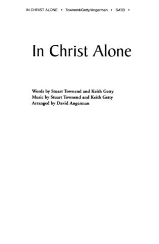Stuart Townend et al.: In Christ Alone
