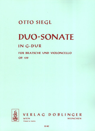 Otto Siegl: Duo-Sonate in G op. 139