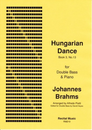 Johannes Brahms: Hungarian Dance book 3 no.13
