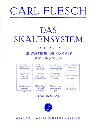 Carl Flesch: Scale System for Violin