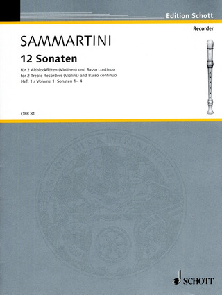 Giovanni Battista Sammartini: 12 Sonaten 1