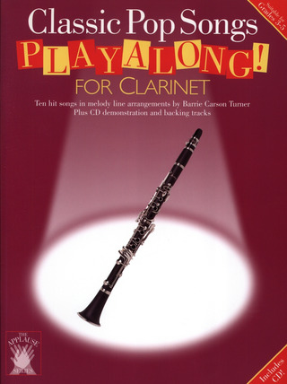 Applause Pop Hits Clarinet Book/Cd