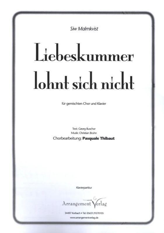 Sich noten pdf lohnt liebeskummer nicht Songtext Liebeskummer