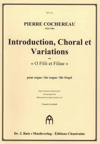 Pierre Cochereau: Introduction Choral + Variations Sur O Filii Et Filiae
