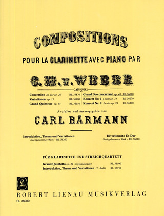 Carl Maria von Weber: Grand Duo concertant op. 48