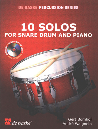 Gert Bomhof: 10 Solos for Snare Drum and Piano