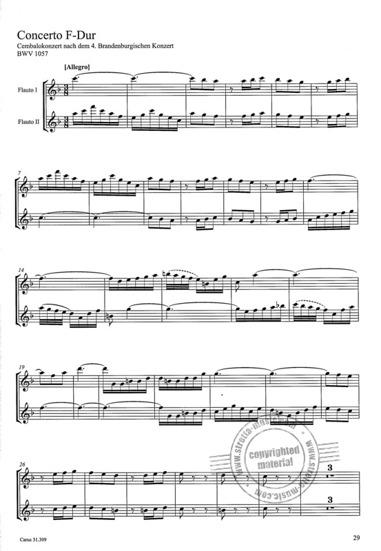 Johann Sebastian Bach: The recorder parts of his instrumental works (3)