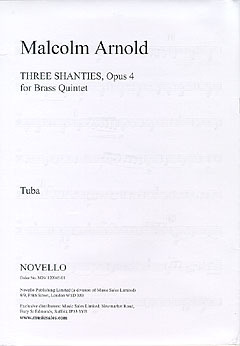 Malcolm Arnold: Arnold Three Shanties For Brass Quintet Arr Denis Wick Parts