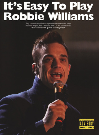 Robbie Williams: It's Easy To Play Robbie Williams Pvg Book