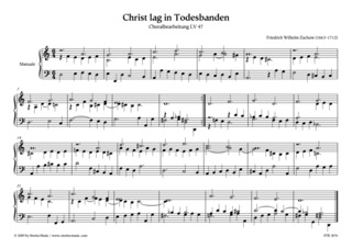 Friedrich Wilhelm Zachow: Christ lag in Todesbanden
