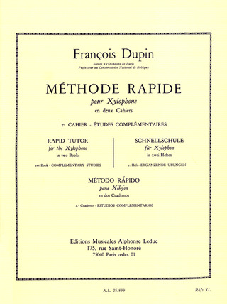 François Dupin: Rapid Tutor for the Xylophone 2