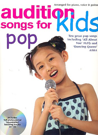 Audition Songs For Kids Pop (Book And Cd) Pvg Book/Cd