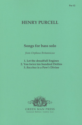 Henry Purcell: Songs For Bass Solo (Orpheus Britannicus)
