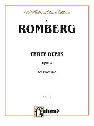 Andreas Romberg: 3 Duets Op 4