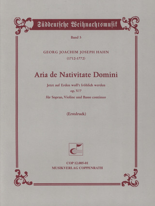 Georg Joachim Joseph Hahn: Aria de Nativitate Domini