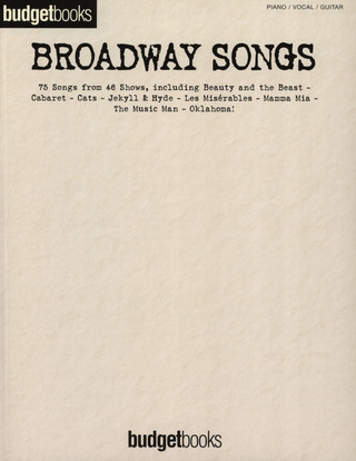 Budget Books - Broadway Songs