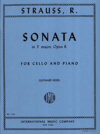 Richard Strauss: Sonate F-Dur Op 6