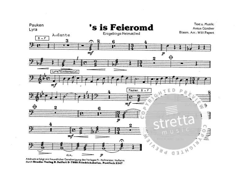 s Is Feieromd von Guenther Anton | im Stretta Noten Shop