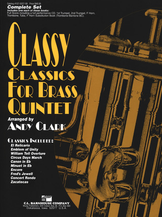 Clark Andy: Classy Classics For Brass Quintet