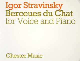 Igor Strawinsky: Stravinsky Berceues Du Chat For Voice And Piano (French)