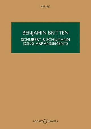 Franz Schubert et al.: Schubert & Schumann Song Arrangements