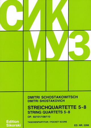 Dmitri Chostakovitch: String Quartets no. 5-8
