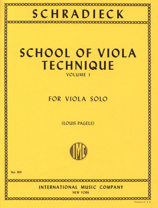 Henry Schradieck: School of Viola Technique 1