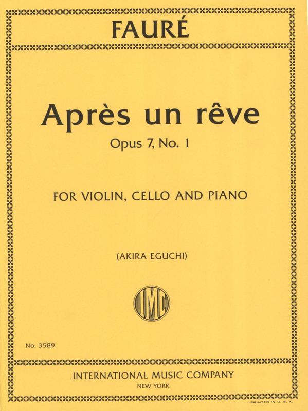 Gabriel trumpet in Bb and piano 9790001190527 Après un rêve op 7//1 Fauré