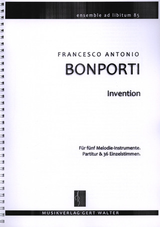 Francesco Antonio Bonporti: Invention