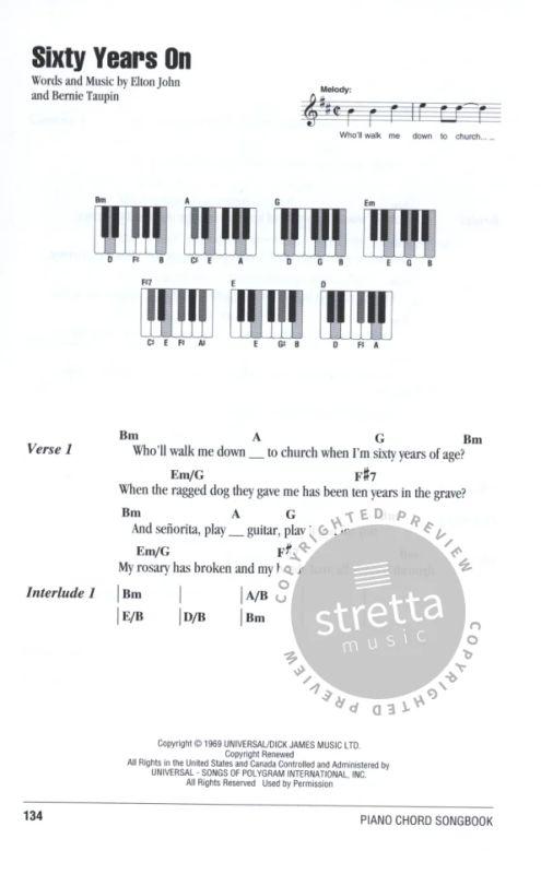 Elton John - Piano Chord Songbook von Elton John | im