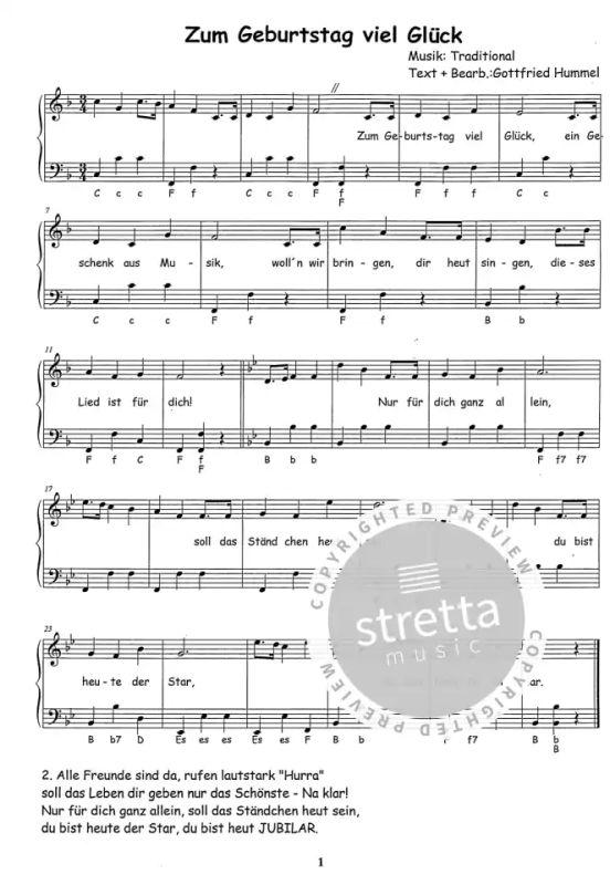 Singen Halt Jung Klaviernoten