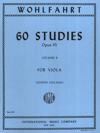 Hans Sitt: 60 Studies Vol. 2 op. 45