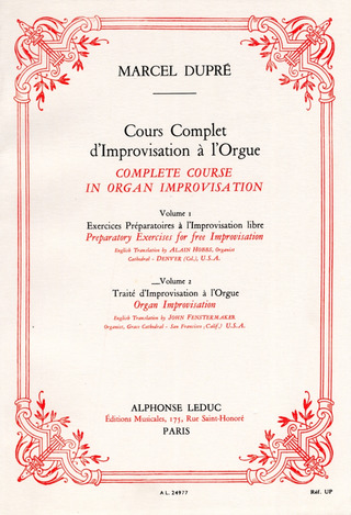 Marcel Dupré: Complete course in organ improvisation 2