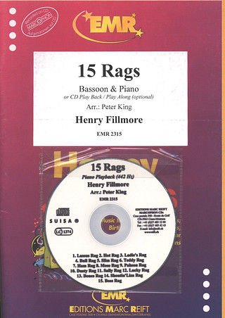 Henry Fillmore: 15 Rags + CD
