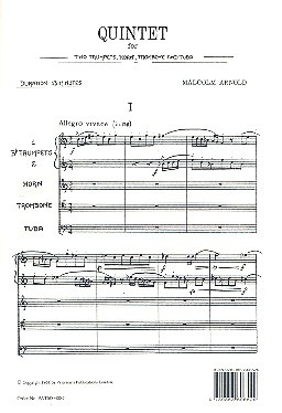 Malcolm Arnold: Arnold, M Quintet For Brass op. 73 F / S