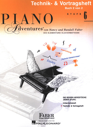Nancy Faber et al.: Piano Adventures 6 – Technik- & Vortragsheft