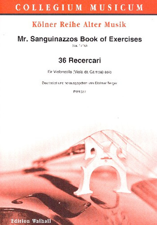 Nicolò Sanguinazzo: Mr. Sanguinazzos Book of Exercises – 36 Ricercari