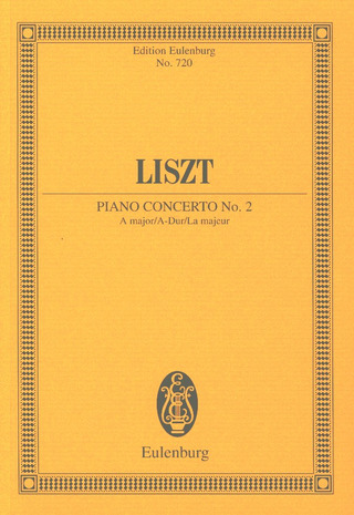 Franz Liszt: Piano Concerto No. 2 A major A-Dur (1939-61)